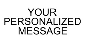 PERSONALIZED - 3 Lines & 40 Fonts - Custom Message - Sticker / Decal / Stencil