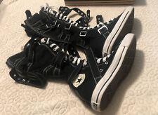 Converse Multi Strap Boot Tennis Shoes XXHI Black Sz 7men, Sz 9 Women's