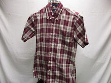 Vintage Levi's S Small Red & White Checker Collar Polo