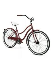 """HUFFY 26"""" WOMEN'S CRANBROOK CRUISER BIKE Dark Red NIB Bicycle Beach Cruiser"""