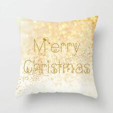 Christmas Pillow Case Xmas Cotton Sofa Throw Cushion Cover Home Decor Gift
