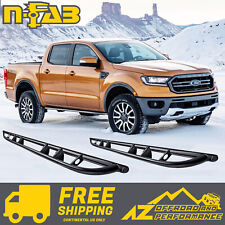 N-FAB Rock Rails For 18-20 Ford Ranger Crew Cab Textured Black F194RKRCC
