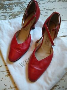 Ladies Werner Kern dance shoes UK size 5.5, red leather