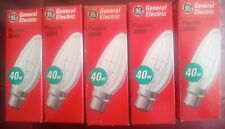 Pack of 5 General Electric Plus life 3000h 40 w clear lightbulbs