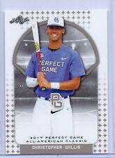 """CHRISTOPHER WILLIS 2017 """"1ST EVER PRINTED"""" LEAF PERFECT GAME ROOKIE CARD"""
