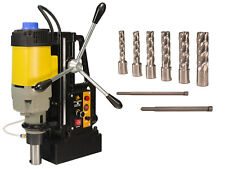 Steel Dragon Tools Md50 Magnetic Drill Press With 7pc 2 Small Hss Cutter Kit