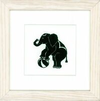 LANARTE 0144522  Éléphant de Cirque  Broderie  Point de croix compté  étamine