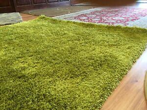 Lime Green Shag Rug - VERY SOFT - BRAND NEW