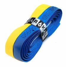 Karakal Super DUO PU Replacement Grips Yellow/Blue Tennis Squash Badminton