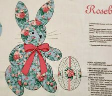 """ROSEBUD BUNNY"" Blue Stuffed Animal ~ Cut & Sew Cranston VIP Fabric Panel ~ New"