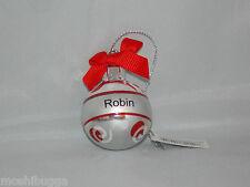 NWT~Hallmark-Joyous Noel Personalized Ornaments by GANZ-Mini-Christmas-ROBIN