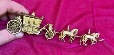 Vintage Miniature Gilded Metal Cinderella Stagecoach figure