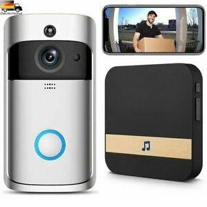 Türklingel mit Kamera WLAN WiFi Video Funkklingel Ring Doorbell HD Nachtsicht DE