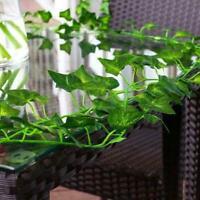 US Artificial Hanging Plants Fake Flowers Leaves Long Green Garlan Vine Ivy N7X5