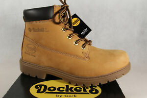 Dockers Women's Boots Winter Boots Yellow Goldentan Leather New