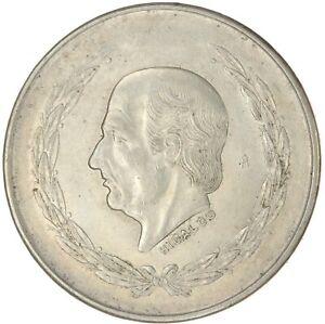 Mexico: 1952-1953 Wreathed Hidalgo Cinco Pesos .720 fine Silver 27.5 g .6431 AWS