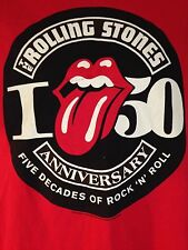 THE ROLLING STONES 50 YEAR TOUR 2012 MEDIUM T SHIRT OUT OF PRINT T SHIRT