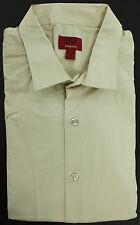 New Alfani Slim Fit Antique White Solid Stretch Dress Shirt 16 - 16 1/2 34 - 35