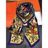 Luxury Scarf 100% Silk Shawl Fashion Tribal Style Printed Blanket Kerchief 135cm