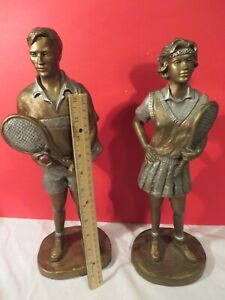 """Tennis Girl & Boy"" Lot Austin Sculpture ""hand signed"" by Alice Heath SALE $149"
