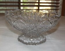 """Crystal Glass Candy Dish pedestal Potpourri candy dish Compote clear 8.5"""" ~"""