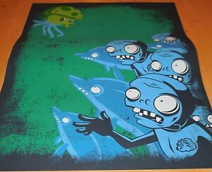 Plants Vs. Zombies (PvZ) Dolphin Zombies Screenprint Poster - # 64 / 300