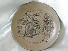 Poole Pottery Stoneware Mouse Eating a Nut Plate (Mouse Series)