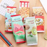 PU Creative Simulation Milk Cartons Pencil Case Kawaii Stationery Pouch Pen Bag