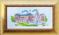 BUCKINGHAM PALACE Original sketch using Letraset promarker art painting Framed