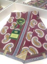 6 Yards African Print Fabric, Ankara - Lovely Blue  Red  Orange Design WHOLESALE