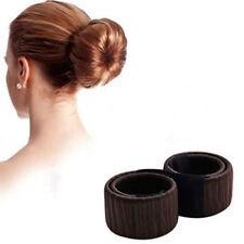 3pk Donut Bun Maker Sponge Hair Styling Tools Bridal Dance Salon Accessories