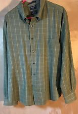 Men's Dockers Long Sleeve Shirt Classic Fit Stain Defender No Wrinkles Sz XL H16