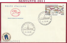 ITALIA FDC CAVALLINO LAVORO ITALIANO ARNOLDO MONDADORI 1989 ANNULLO TORINO U820