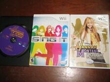 3 Hannah Montana Games - Spotlight World Tour / The Movie / Sing It Nintendo Wii