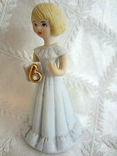 Enesco 1981 Growing Up Birthday Girls -Age 6 Blonde