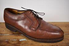 Allen Edmonds Stockbridge Brown Split Moc Toe Lace Up Blucher Men's Size: 10.5D