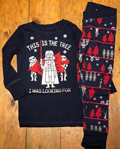 NWT Gap Boys Holiday Xmas Pajamas Star Wars Darth Vader tree Looking for Size 4