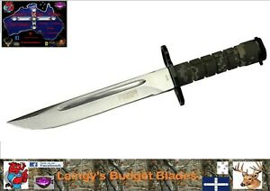 "Defender XTREME 9295 13.75"" Green Digital camo Bayonet Hunting Knife with Sheath"