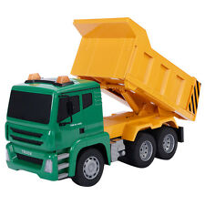 Goplus 1/18 5CH Remote Control RC Construction Dump Truck Kids Large Toy New