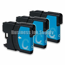 3 CYAN New LC61 Ink Cartridge for Brother MFC-495CW MFC-J410W MFC-295CN LC61C