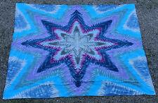 Hippie Tie dye dyed tapestry sheet curtain wall hanging XL 102*99 Mandala star