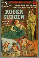 Roger Sudden by Thomas H Raddall 1953 VG French Vs English in the New World