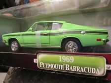 1969 69 BARRACUDA  1/18 diecast HOT ROD  yat ming road signature GREEN