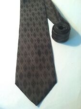 NEW STAFFORD Neck Tie 100% SILK. GRAY DIAMOND PATTERN, MADE IN ITALY. EXECUTIVE