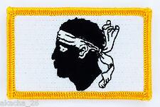PATCH ECUSSON BRODE DRAPEAU CORSE CORSICA INSIGNE THERMOCOLLANT NEUF FLAG