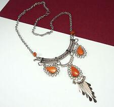 Stunning Peruvian Alpaca Silver Red Jasper Necklace - Boho Jewellery