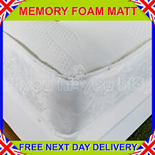 """NEW 3ft6"""" Large Single MEMORY SOFT 10"""" SPRUNG MEMORY FOAM MATTRESS Free Delivery"""