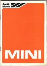 USO MANUTENZIONE DRIVER'S HANDBOOK MINI MINOR CITY, VAN & PICK-UP - 1982