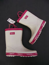 BNWT Little Girls Sz 7 Rivers Doghouse Brand Pink and White Long Style Gumboots