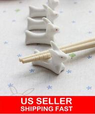 10x Ceramic Ware Rabbit Chopstick Rest Porcelain Spoon Fork Knife Holder Stand
